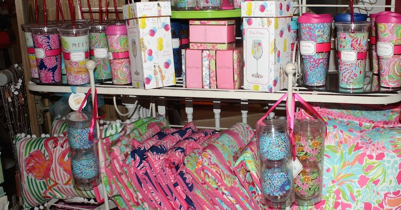 The shelves at Be are stocked with spring break necessities from Lilly Pulitzer.